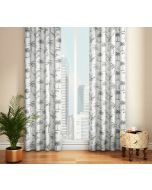 India Circus Monochrome Palms Door Curtain
