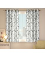 India Circus Monochrome Palms Window Curtain