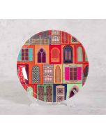 India Circus Mughal Doors Reiteration 8 inch Decorative and Snacks Platter