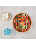 India Circus Mughal Doors Reiteration Round Serving Tray