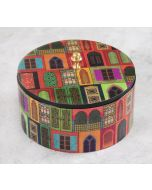 India Circus Mughal Doors Reiteration Round Storage Box