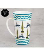 India Circus Mystical Garden Conical Mug (Set of 2)