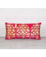 "India Circus Mystical Pomegranate 16"" x 8"" Blended Velvet Cushion Cover"