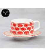 India Circus Mystique Flower Ambush Cup and Saucer