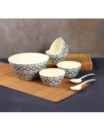 India Circus Organised Ovule Bamboo Salad Bowl Set