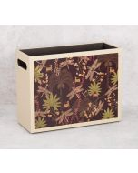 India Circus Palmeria Bloomer Leather Magazine Holder