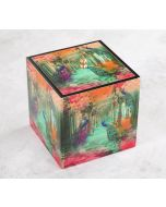 India Circus Peacock Dwar Square Storage Box