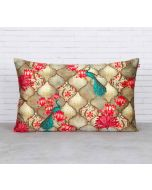India Circus Peacocks Lotus Orchard Blended Velvet Cushion Cover