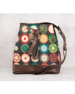India Circus Platter Portrayal Hobo Bag