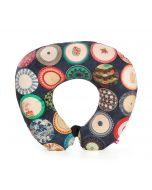 India Circus Platter Portrayal Neck Pillow