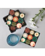 India Circus Platter Portrayal Table Coaster