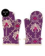 India Circus Poly Palmeira Oven Mitts