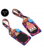 India Circus Pop Courtyard Travel Tag Set of 2