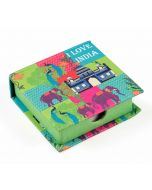 India Circus Pop Patriot Memo Pad Box