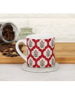 India Circus Poppy Flower Scarlet Espresso Mug