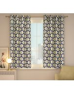 India Circus Poppy Flower Window Curtain