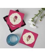 India Circus Poppy Surprise  Table Coaster Set of 6