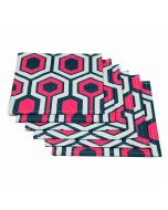 India Circus Prismatic Hexagons Cocktail Napkins Set of 6