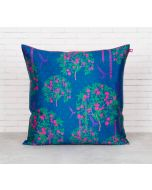India Circus Prussian Berry Pecker Blended Taf Silk Cushion Cover