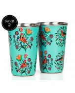 India Circus Psittacines Enquiry Medium Steel Tumbler Set of 2