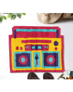 India Circus Radio Mundial Shape Bath Mat
