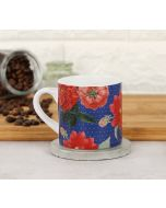 India Circus Red Blooms Espresso Mug