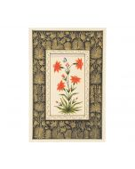 India Circus Red Mughal Flower Handmade Poster