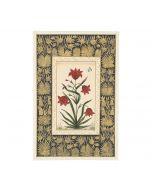 India Circus Red Tulip Handmade Poster