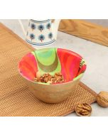 India Circus Ripple in a Zipper Wooden Bowl