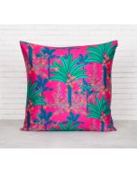 India Circus Royal Palms Blended Taf Silk Cushion Cover