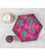 India Circus Royal Palms Hexagon Serving Tray