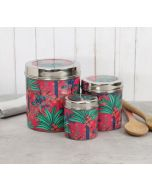 India Circus Royal Palms Steel Container (Set of 3)