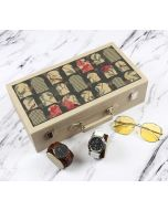 India Circus Signature Windows Leather Watch and Eyeware Box