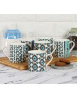 India Circus Sketch Pattern Coffee Mug Set of 6