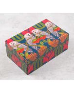India Circus Strix Streaks Enameled Storage Box