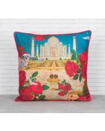 India Circus Taj Ka Raj Blended Taf Silk Cushion Cover