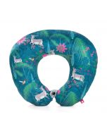 India Circus Teal Forest Fetish Neck Pillow
