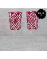 India Circus The Morning Glory Wine Glasses Set of 2
