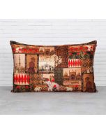 India Circus The Mughal Era Blended Velvet Cushion Cover