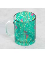 India Circus The Rose finchs Window View Glass Coffee Mug