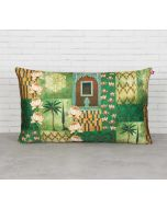 """India Circus Tiled Lotus Extravaganza 20"""" x 12"""" Blended Velvet Cushion Cover"""