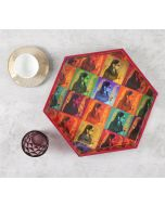 India Circus Tinted Queen Hexagon Serving Tray