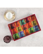 India Circus Tinted Queen Rectangle Serving Tray