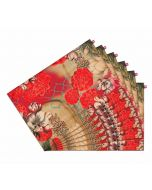 India Circus Trapped Dahlia Table Mats Set of 6
