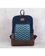 India Circus Trichrome Chevron Denim Backpack