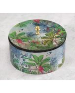 India Circus Tropical View Round Storage Box