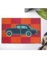 India Circus Vintage on Wheels Doormat