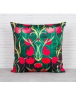 India Circus Waves of Blossom Blended Velvet Cushion Cover