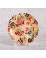 India Circus Wildlife Stamps 8 inch Decorative and Snacks Platter