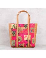 India Circus Wildlife Stamps Tote Bag